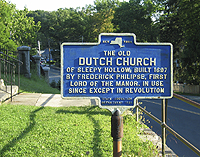 Click to enlarge photo of sign at Old Dutch Church.