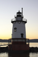 Click to enlarge photo of Sleepy Hollow Lighthouse at dusk.