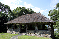 Click to enlarge picnic shelter at Stony Point Battlefield.